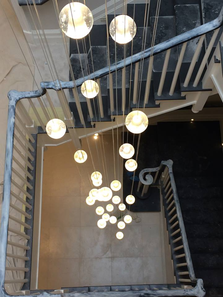 31 Light Air Bubble Chandelier Supplied To Signature Prime Property Lightstyle Interiors