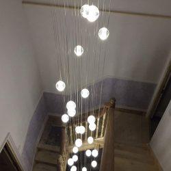 Bocci style stairwell chandelier