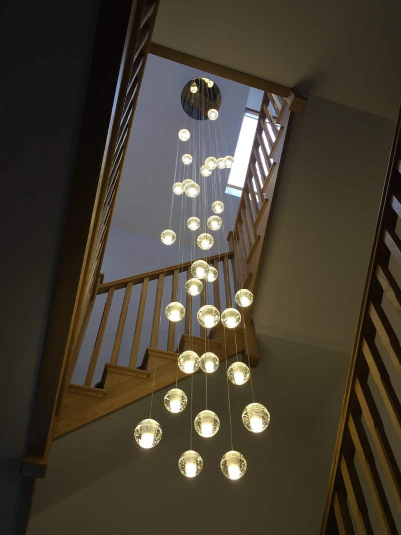 Air Bubble Chandelier 50cm Dia X 4mtr Drop Adjustable On