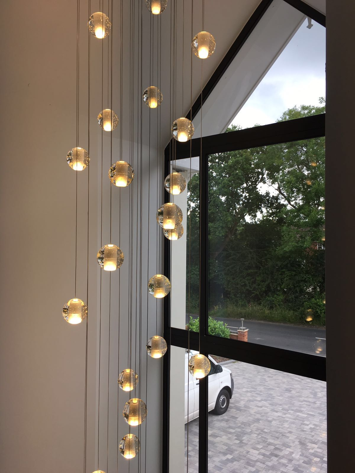 Led Shop Lights >> Air bubble long stairwell chandelier