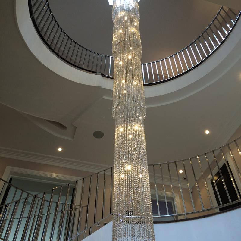 Long stairwell chandeliers modern glass chandeliers and crystal quick view mozeypictures Images