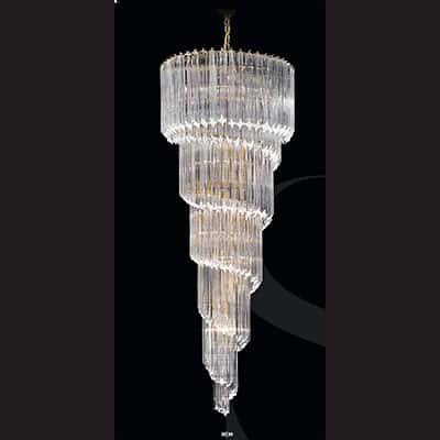Nova spiral 8940200sq italian made glass chandelier finished in nova spiral 8940200sq italian made glass chandelier finished in chrome or gold 65cm dia x h 200cm 15no e27 aloadofball Images