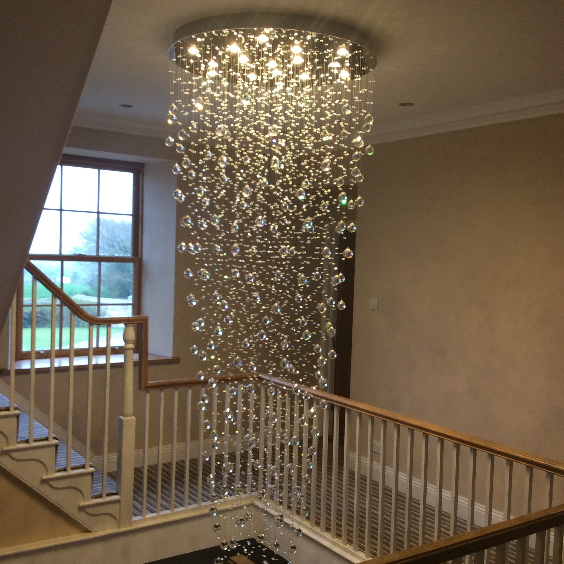 Crystal Stairwell Chandelier 018 Lightstyle Interiors