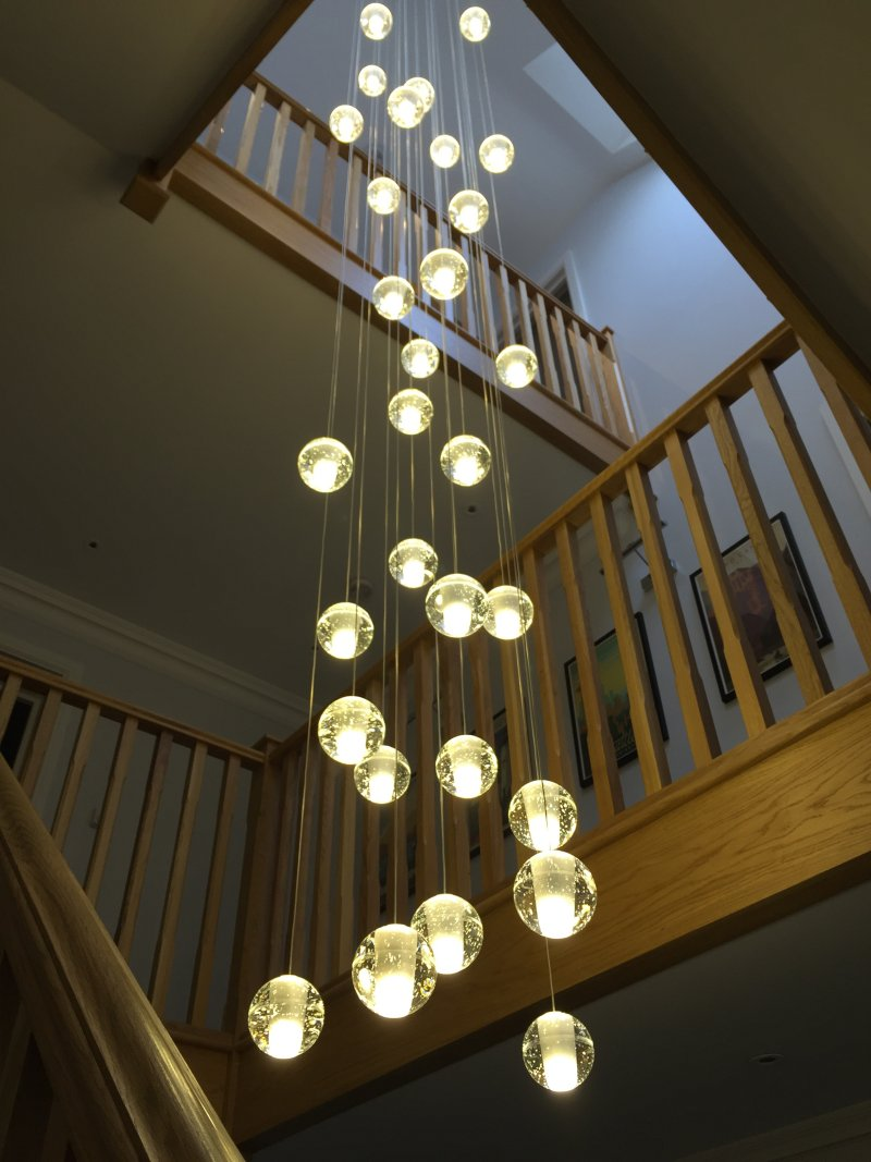 Air Bubble Chandelier 50cm Dia X Drop Adjustable On Display In Our Showroom Lightstyle