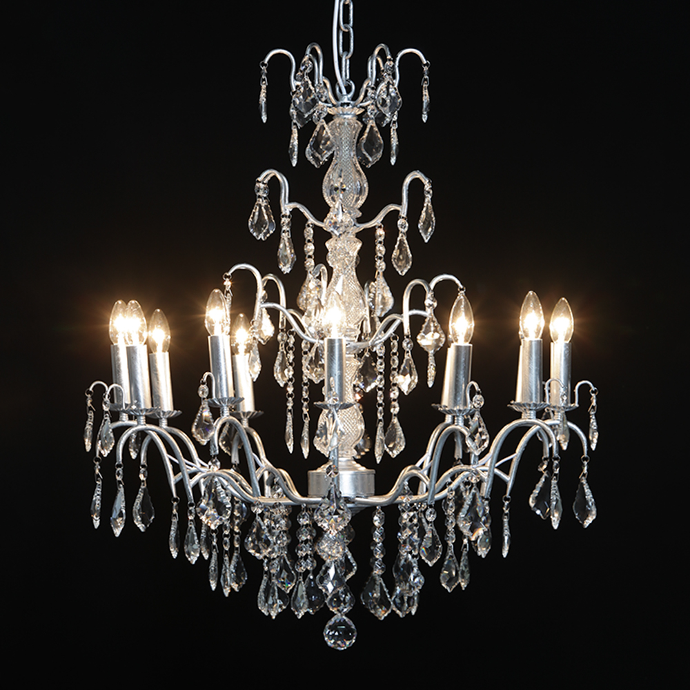 sutton silver leaf chandelier ceiling tro troy zoom candle loading